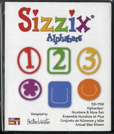 Sizzix Stanzformen Alphaclips Zahlen 38-1156