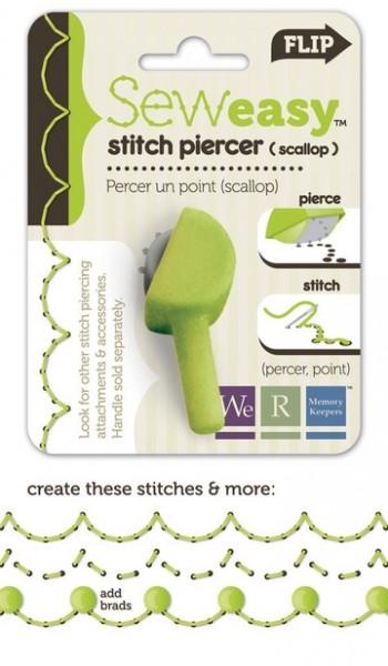 Ersatz-Kopf Stitch Piercer Scalloped Head 71056-1 (hell-grün )
