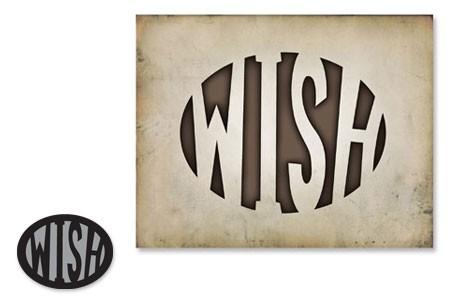 Sizzix Einsatz-Stanzform Movers & Shapers ' WISH ' 657078