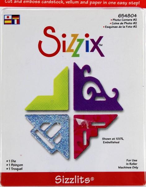 Sizzix Stanzform Sizzlits SMALL 1-er Fotoecken # 2 / photo corners 22270 / 654804