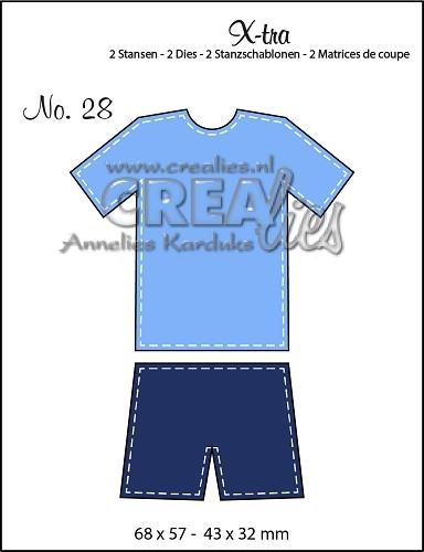 Crealies Stanzform X-tra Nr.28 Sportausrüstung / Sports Outfit CLXTRA28