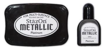 StazOn Stempelkissen Metallic Platiunum SZ-000-195