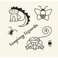Basic Grey Clear Stamps Leaping Lizards 2088-9