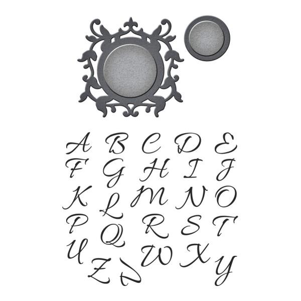 Spellbinders Stempel-u. Stanzform-Set Royal Monogram Set SDS-036