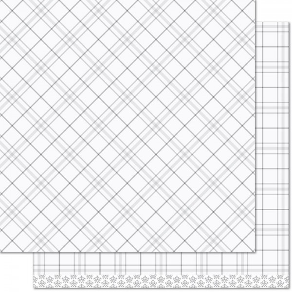 "Lawn Fawn Scrapbook-Papier Perfectly Plaid 12 "" x 12 "" Harp Seal ( hell-grau ) LF1250"