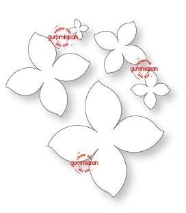 Gummiapan Stanzform Blumen / 5 blommor D170354