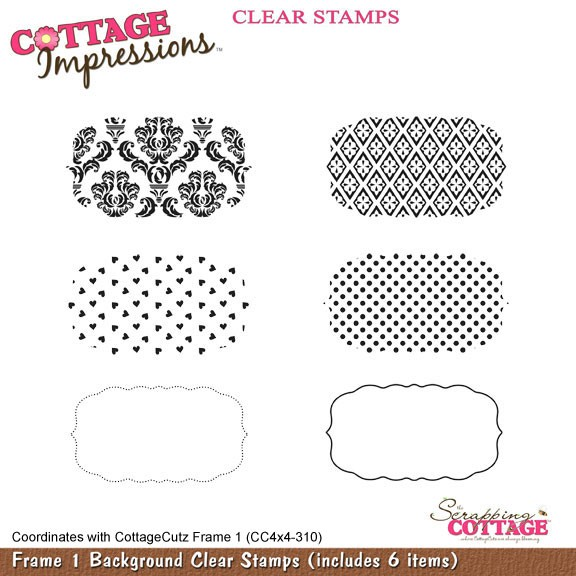 Cottage Cutz Clear Stamps Frame 1 Background SC CIC-002-J