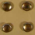 Brads Halbperlen gefrostet GOLD-APRICOT 8 mm 79-566-616