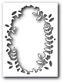 Memorybox Stanzform Collage oval mit Zweigen / Everglade Collage 99945