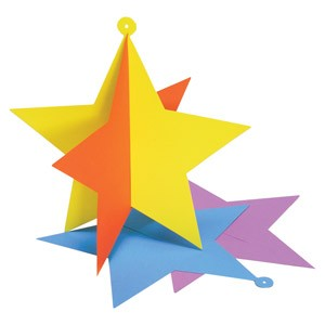 Schablone Stern 3D zum Aufhängen/Star 3D S 2012 G(ACC G 46)