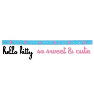 Sizzlits Border Hello Kitty so sweet & cute mit Blumen 655 887