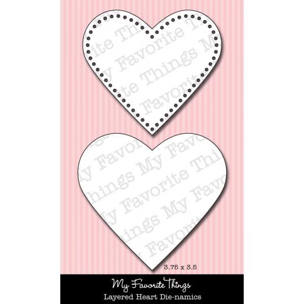 Die-namics Stanzform Herzen / Layered Hearts 14946 / MFT-132