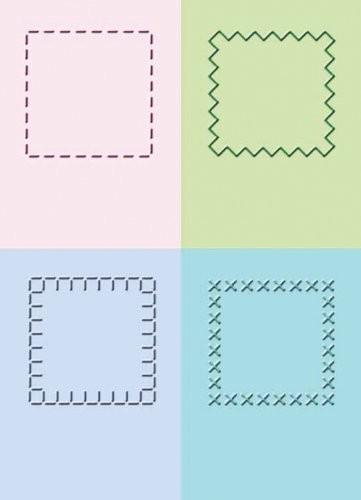 Cuttlebug Prägefolder-Set Quadrate gestickt / stitched squares 37-1253