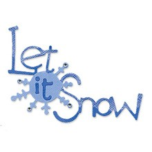 "Sizzlits Worte "" Let it snow "" / phrase let it snow 655 182"