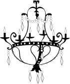Memory Box Stempel Kronleuchter / crystal chandelier E1170