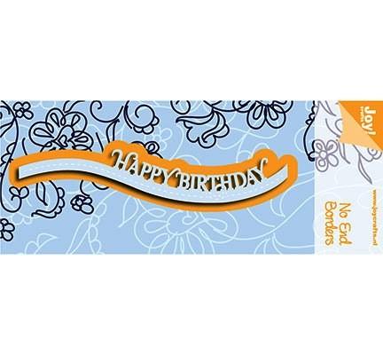 Joycrafts Stanzform Happy Birthday No End Waveborder 6002/0923