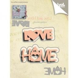 Joycrafts Stanzform ' Love ' ' Home ' 6002/0527