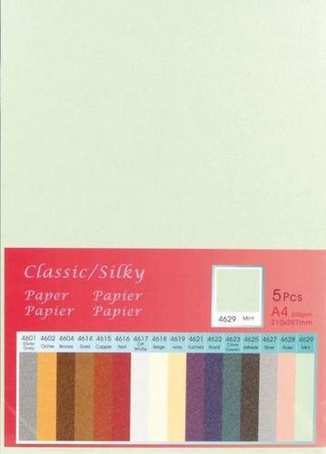 Papier A 4 Classic Silky MINT ( 5 Blatt ) 652000/4629