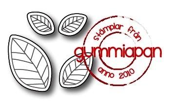 Gummiapan Stanzform Blätter / Blad D180925