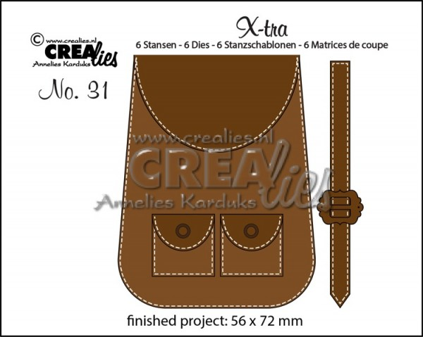 Crealies Stanzform X-tra Nr.31 Rucksack / Backpack CLXTRA31