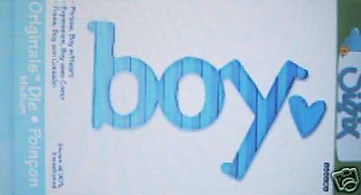 """Sizzix Stanzform Originals MEDIUM Wort """" boy """" 655909"""