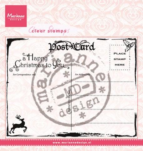 Marianne D Clear Stempel Weihnachts-Postkarte CS0936