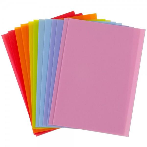 EK Success Plastik-Papiere bunt zum Stanzen mit Motivlocher 55-59015