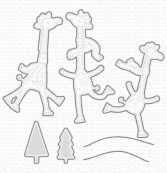 Dienamics Stanzform Giraffen auf dem Eis / Giraffes On Ice WS MFT-1647