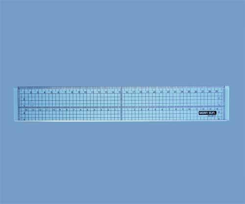 Lineal 30 cm transparent mit Metallkante 78-213-00