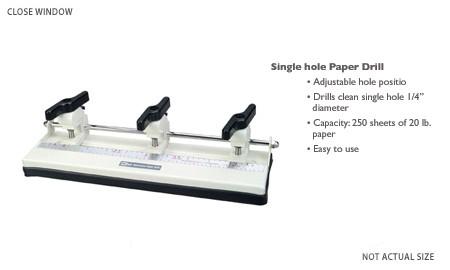 Papierbohrer groß mit 3 Einsätzen 57000
