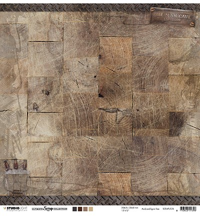 Studio Light Scrapbook-Papier Holzstruktur SCRAPUS36
