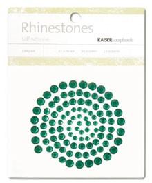 Rhinestones / Glitzersteine selbstklebend DUNKELGRÜN SB708