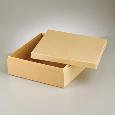 Pappbox mit Deckel quadratisch 18,5 x 18,5 cm 2634047