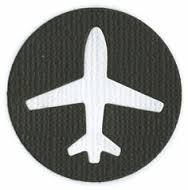 Quickutz Stanzform Flugzeug / airplane icon RS-0544