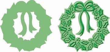 Cuttlebug Stanzform u. Prägefolder MEDIUM Kranz / holly wreath Stanz-und Prägeform 37-1858