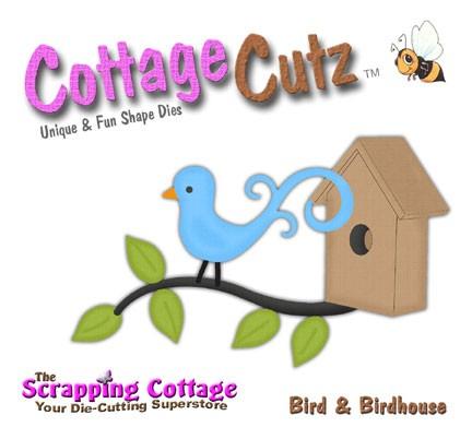 Vogel u. Häuschen /bird & birdhouse SC CC4x4-016