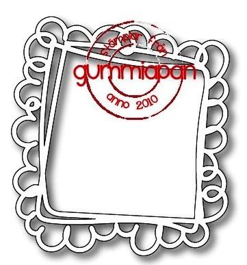 Gummiapan Stanzform Doodled Quadrat / Doodled Square D180503