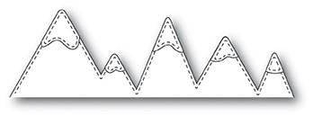 Memorybox Stanzform Berge mit Nähnaht / Stitched Mountains 99890