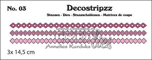 Crealies Stanzform Decostripzz Nr. 3 Quadrate u. Rauten / Squares and Diamonds CLDS03
