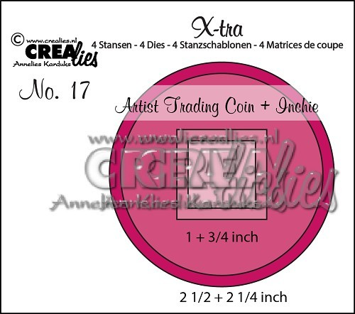 Crealies Stanzform X-tra Nr.17 Artist Trading Coin And Inchie CLXTRA17
