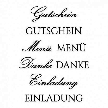 Efco Clear Stempel-Set ' Gutschein, Menü, Danke, Einladung ' 4511128