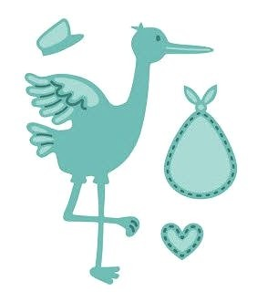 Creative Expressions Stanzform Storch / Stork And Baby CED10024