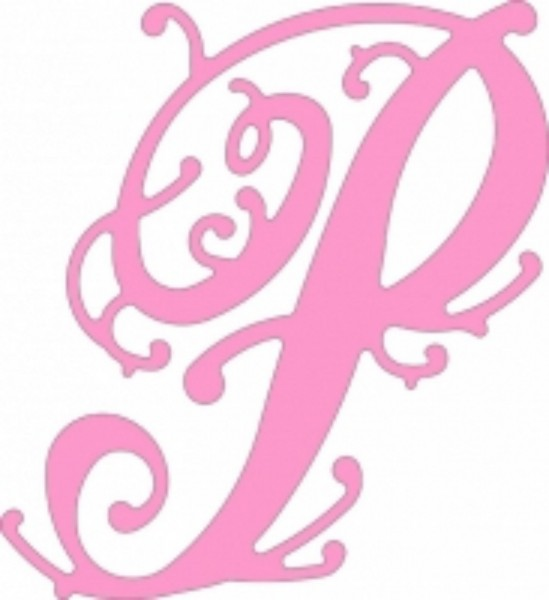 "CheeryLynnDesigns Monogramm Lace Flourish "" P "" FF P"