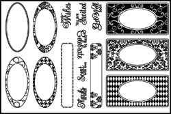 Stamping Scrapping Clear Stamps Fancy Accents 3020