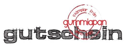 Gummiapan Stempelgummi ' Gutschein ' 18040428