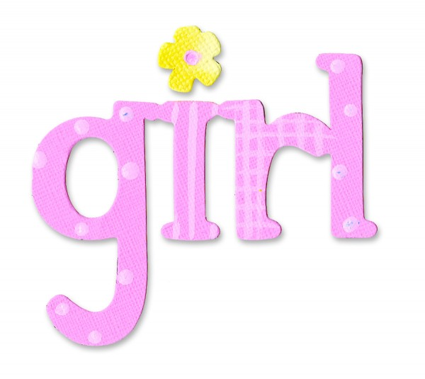 "Sizzix Stanzform Originals MEDIUM Wort "" girl "" 655910"