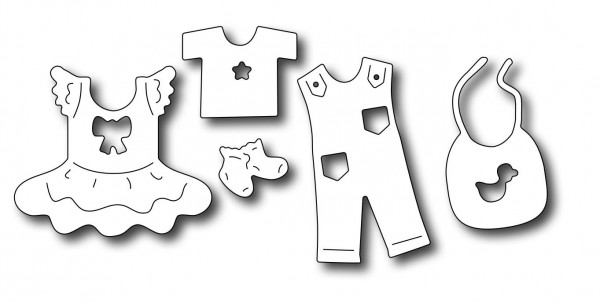 Frantic Stamper Stanzform Baby-Kleidung / Baby Clothes Icons FRA-DIE-09690