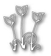 Poppystamps Stanzform Krokus-Trio / Crocus Trio 1399