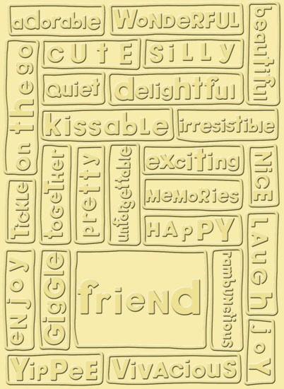 Cuttlebug Prägefolder Freundschaft / friend 37-1132