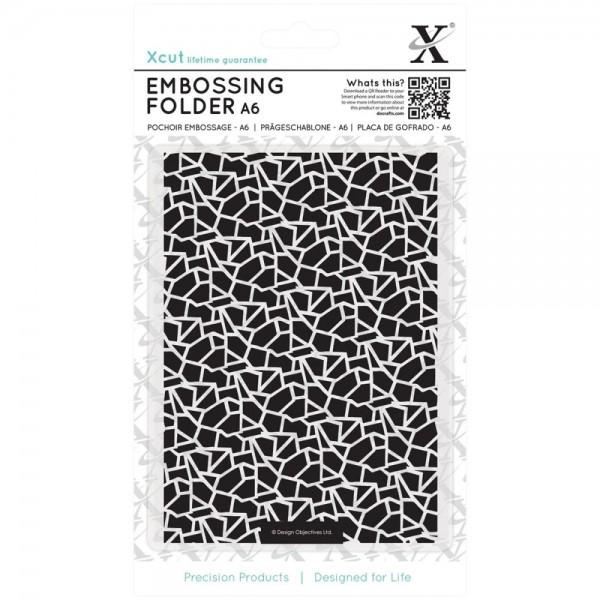 Docraft Prägefolder A 6 Tonscherben / Cracked Tiles XCU 515153